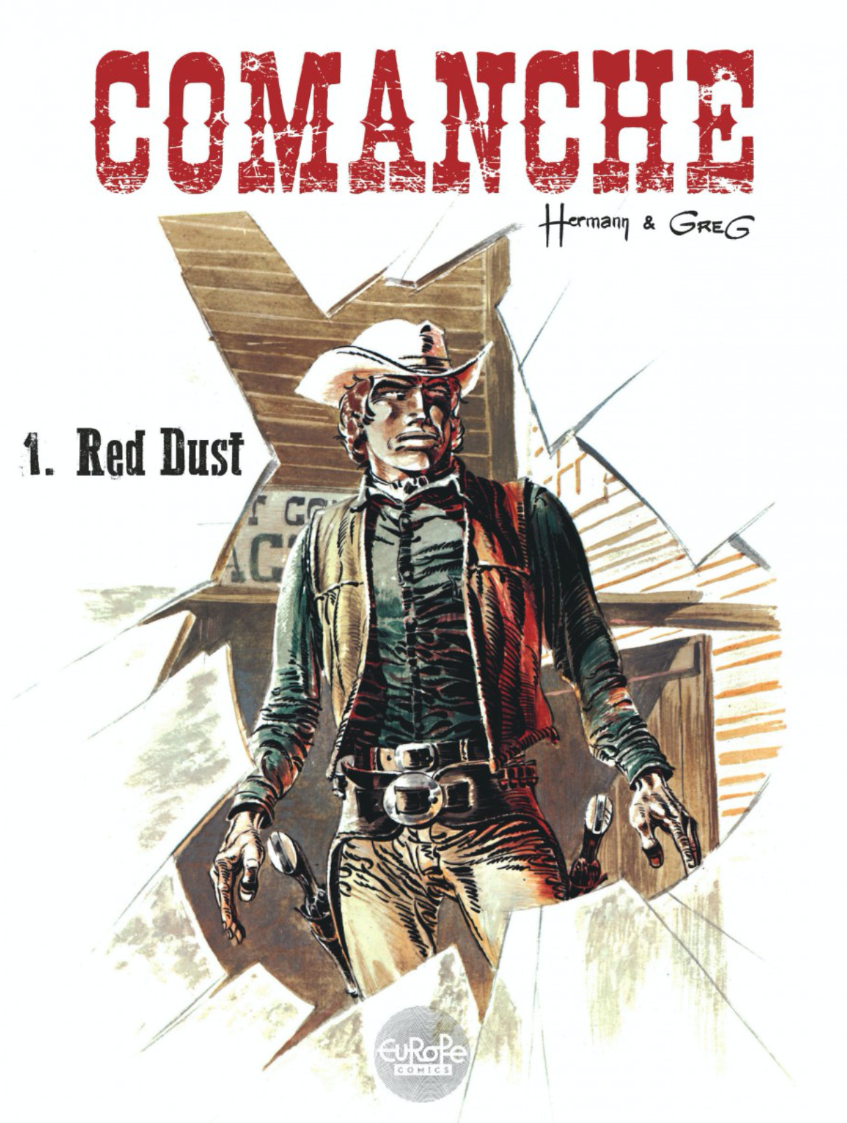 Couverture Comanche T1 : Red dust